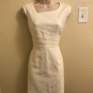 Antonio melani white floral bodycon dress size 8